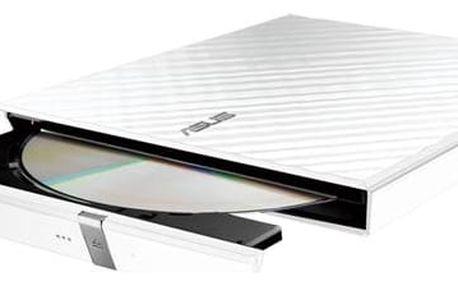 Externí DVD vypalovačka Asus SDRW-08D2S Lite bílá (90-DQ0436-UA161KZ)