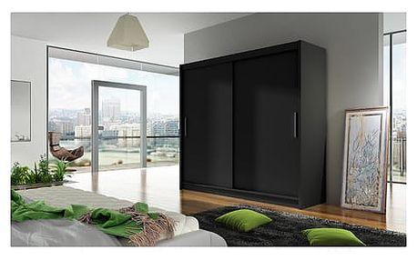 Velká šatní skříň BEGA I černá šířka 180 cm