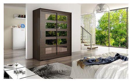 Velká šatní skříň WESTA V čokoládová šířka 150 cm