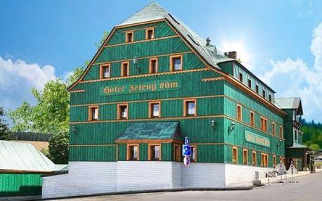3 až 5denní letní pobyt pro 2 s polopenzí v hotelu Zelený Dům v Krušných horách