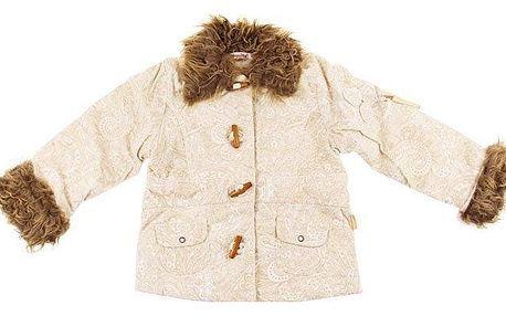 Dívčí kabátek s kožíškem vel. 116