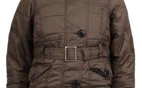 Dívčí zateplená bunda s kožíškem hnědá vel. 98