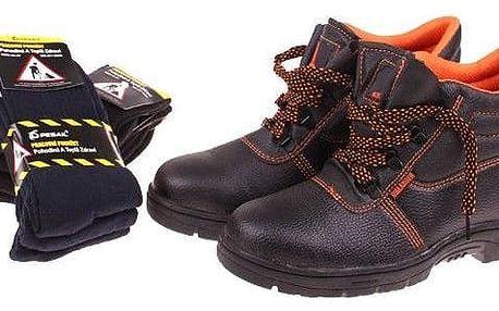 Pracovní obuv s 6 páry ponožek