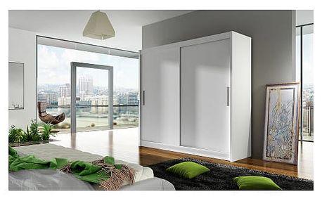 Velká šatní skříň BEGA I bílá šířka 180 cm