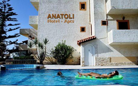 Řecko - Kréta: Apartmánový dům Anatoli na 8 dní letecky z Brna