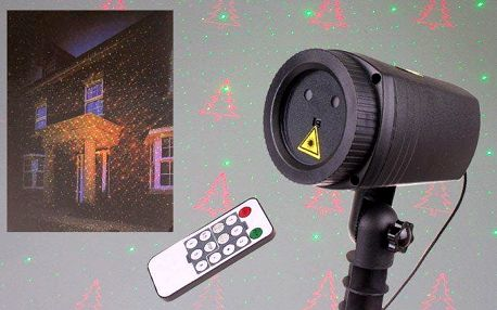 Vánoční laserové osvětlení domu