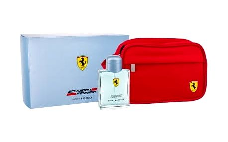 Ferrari Scuderia Ferrari Light Essence dárková kazeta pro muže toaletní voda 125 ml + kosmetická taška