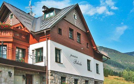 Pohoda ve Špindlu s polopenzí i saunou