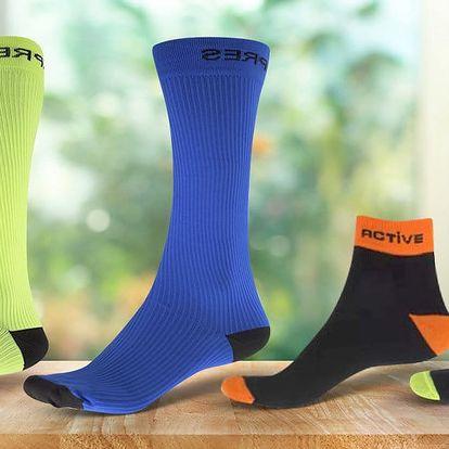 Sportovní ponožky a kompresní podkolenky
