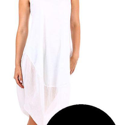Plážové dámské bavlněné šaty černá