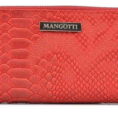Červené kožené psaníčko Mangotti Bags Zuna