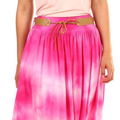 Dámská dlouhá batikovaná sukně růžová