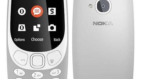 Mobilní telefon Nokia 3310 (2017) Single SIM šedý (A00028218)