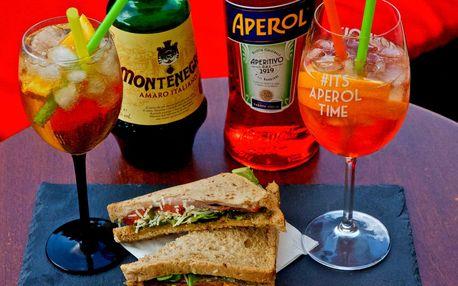 Osvěžující letní spritz a k němu třeba sendvič