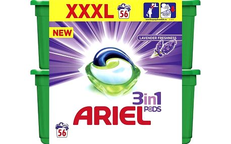 ARIEL Lavender 3v1 Gelové kapsle - 56 praní