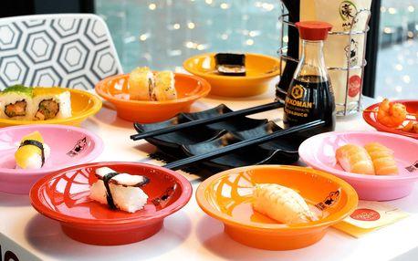 Running sushi: až 2 hodiny neomezené konzumace