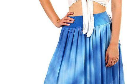 Dámská dlouhá batikovaná sukně modrá