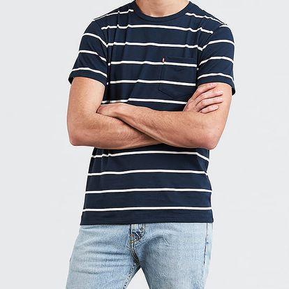 Tričko LEVI'S SS Classic Pocket Tee Brick Stripe Dres Modrá