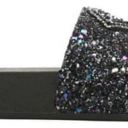 Dámské černé pantofle Diamond 049