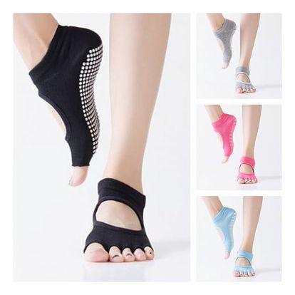 Protiskluzové prstové ponožky na jógu