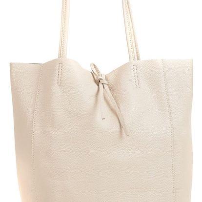 Béžová kožená kabelka Sofia Cardoni Patula