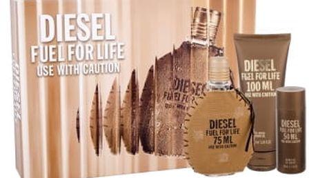 Diesel Fuel For Life Homme 75 ml dárková kazeta dárková sada pro muže toaletní voda 75 ml + sprchový gel 100 ml