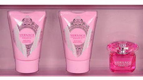 Versace Bright Crystal Absolu EDP dárková sada W - EDP 5 ml + tělové mléko 25 ml + sprchový gel 25 ml