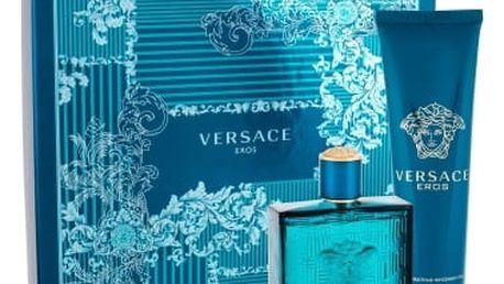 Versace Eros dárková kazeta pro muže toaletní voda 100 ml + sprchový gel 150 ml