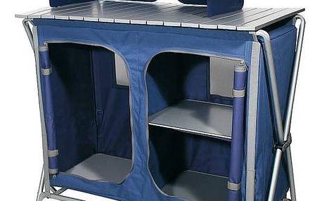 Skříňka kempingová skládací Ferrino QUICK PLUS, modrá