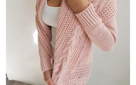 Dámský pletený kardigan Merrill - Růžový - SLEVA