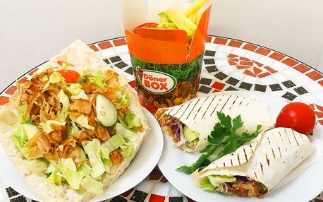 Döner kebab nebo durüm a nápoj pro 1 i 2