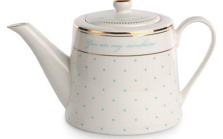 Porcelánová konvice na čaj nebo kávu 1 l