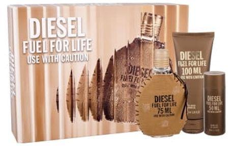 Diesel Fuel For Life Homme dárková kazeta pro muže toaletní voda 75 ml + sprchový gel 100 ml