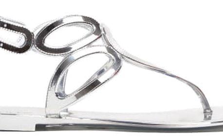 Dámské stříbrné sandály Aiden 095
