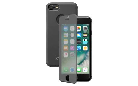 Pouzdro na mobil flipové CellularLine Touch pro Apple iPhone 8/7 černé (BOOKTOUCHIPH747K)
