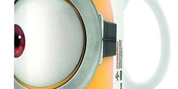 CurePink Keramický hrnek Mimoni Eyes bílý 315 ml