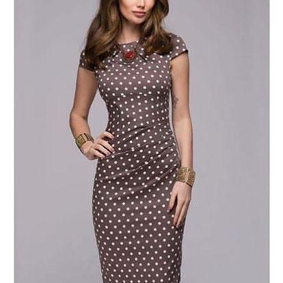 Dlouhé šaty s puntíky - 2 barvy