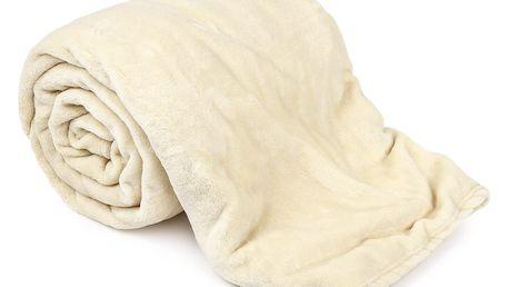 JAHU Deka XXL / Přehoz na postel smetanová, 200 x 220 cm