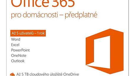 Software Microsoft Office 365 pro domácnosti CZ (6GQ-00721)