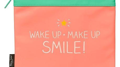 Růžová kosmetická taštička Happy Jackson Smile