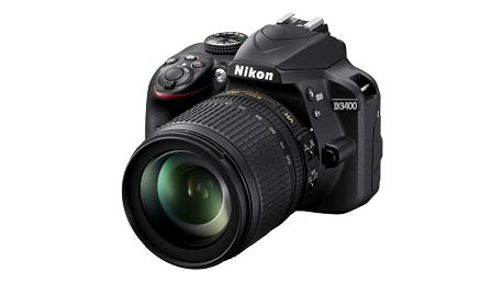 Digitální fotoaparát Nikon D3400 + 18-105 AF-S DX VR + 4x čištění čipu zdarma (VBA490K003) černý Elektronický fotorámeček Hyundai LF 1030 MULTI černý v hodnotě 1 999 Kč + DOPRAVA ZDARMA
