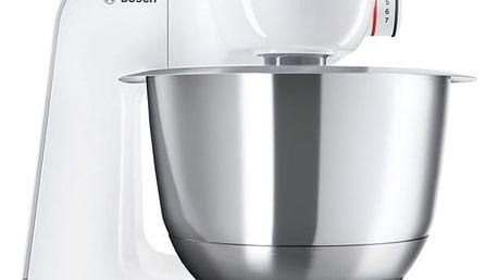 Kuchyňský robot Bosch CreationLine MUM58224 stříbrný/bílý + dárek Příslušenství k robotu Bosch MUM 5 Bosch MUZ5MX1 v hodnotě 666 Kč + DOPRAVA ZDARMA