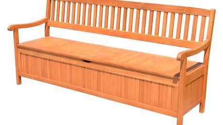 Zahradní lavice s úložným prostorem z eukalyptového dřeva ADDU Houston, délka187cm