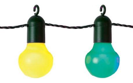 Barevný světelný LED řetěz vhodný do exteriéru Best Season Party, 20 světýlek