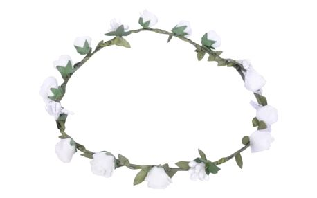 Bílá květinová čelenka Snow White