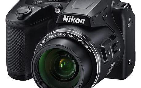 Digitální fotoaparát Nikon Coolpix B500 černý + dárek