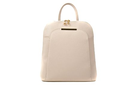Béžový kožený batoh Renata Corsi Sallio