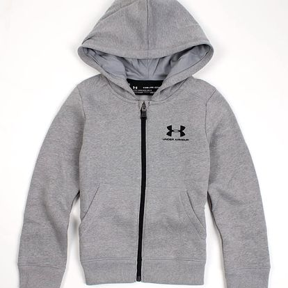 Mikina Under Armour Eu Cotton Fleece Fz Šedá