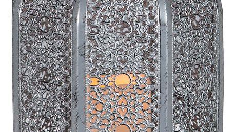 LED lucerna ve stříbrné barvě vhodná do exteriéru Best Season Oriental