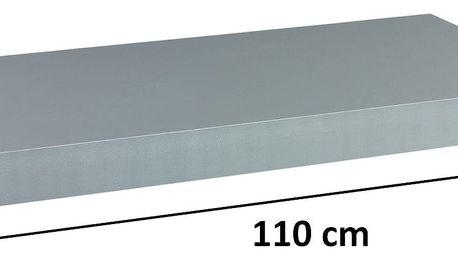 STILISTA VOLATO 31081 Nástěnná police - stříbrná 110 cm